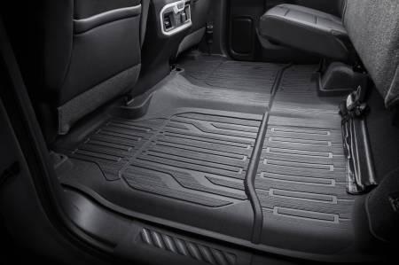GM Accessories - GM Accessories 84333637 - Second-Row Premium All-Weather Interlocking Floor Liner in Black [2019+ Sierra]