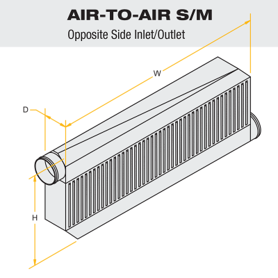 """ProCharger - ProCharger AI045A-001 - Air-To-Air Race I/C (3.5"""" Inlet / Outlet Opposite Side) 1300hp"""