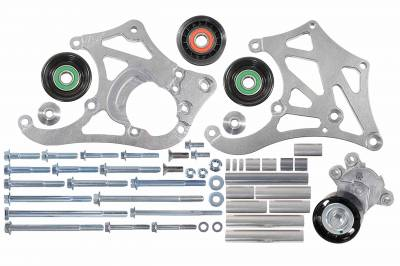 ICT Billet - ICT Billet 551135-3-7176 - LSA Supercharger High Mount A/C Sanden 7176 Compressor Bracket Kit CTS-V ZL1