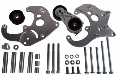 ICT Billet - ICT Billet 551585X-2 - LS Camaro R4 A/C Air Conditioner Compressor Bracket Kit LS1 Camaro LSX AC