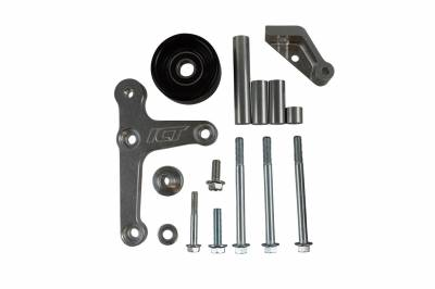 ICT Billet - ICT Billet 551668-3 - LS Truck - Billet Low Mount Alternator Bracket Kit w/ Pulley
