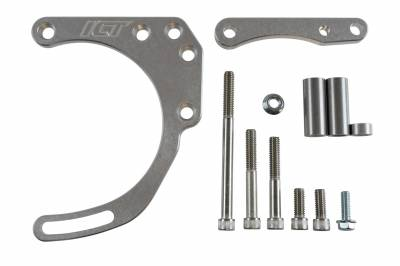 ICT Billet - ICT Billet 551672X - SBC Alternator Bracket - for Double Hump Heads (bolts to water pump only)