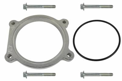 ICT Billet - ICT Billet 551757-5 - LSA LS3 Throttle Body Spacer 1/2 inch Adapter LS Clearance 4 Bolt TB DBW