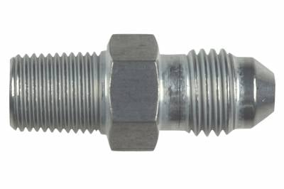 """ICT Billet - ICT Billet AN816-04-02A - Straight -4AN Flare Male to 1/8""""NPT Pipe Adapter Fitting 4 AN Bare Aluminum"""