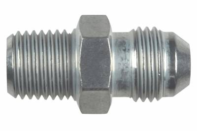 """ICT Billet - ICT Billet AN816-06-04A - Straight -6AN Flare Male to 1/4""""NPT Pipe Adapter Fitting 6 AN Bare Aluminum"""