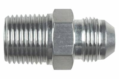 """ICT Billet - ICT Billet AN816-08-08A - Straight -8AN Flare Male to 1/2""""NPT Pipe Adapter Fitting 8 AN Bare Aluminum"""