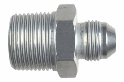 """ICT Billet - ICT Billet AN816-08-12A - Straight -8AN Flare Male to 3/4""""NPT Pipe Adapter Fitting 8 AN Bare Aluminum"""