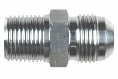 """ICT Billet - ICT Billet AN816-10-08A - Straight -10AN Flare Male to 1/2""""NPT Pipe Adapter Fitting 10 AN Bare Aluminum"""