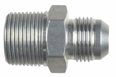 """ICT Billet - ICT Billet AN816-10-12A - Straight -10AN Flare Male to 3/4""""NPT Pipe Adapter Fitting 10 AN Bare Aluminum"""