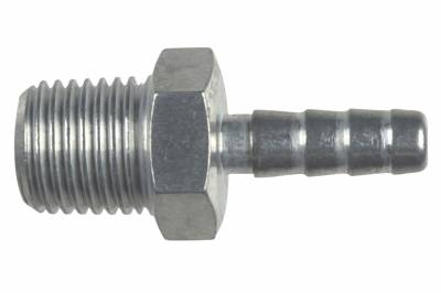 """ICT Billet - ICT Billet AN840-04-04A - Straight 1/4"""" NPT Pipe to 1/4"""" .250"""" Hose Barb Fitting Bare Aluminum"""