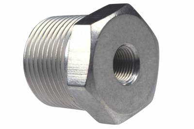 "ICT Billet - ICT Billet AN912-12-02A - Straight 3/4""NPT Male to 1/8""NPT Female Pipe Adapter Reducer Fitting Bare"