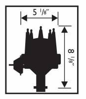 MSD - MSD 83603 - Black Chevy V8 w/Internal Module Distributor - Image 2