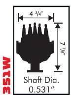 MSD - MSD 8578 - Ford 351W Small Diameter Pro-Billet Distributor - Image 2
