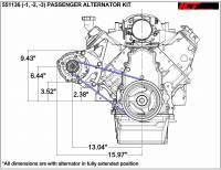 ICT Billet - ICT Billet 551136-2 - LS Camaro HD Alternator Passenger Side Bracket Remote Water Pump - Image 3